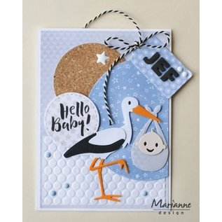 Marianne Design Stamping templates, Eline's stork with baby