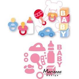 Marianne Design Matrizes de corte, material do bebê de Eline