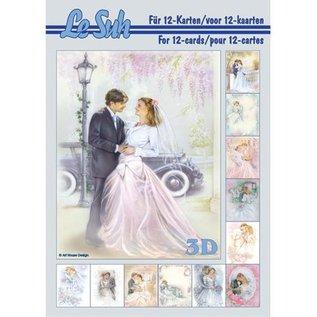 Bilder, 3D Bilder und ausgestanzte Teile usw... A5, con le foto di nozze