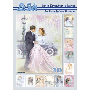 Bilder, 3D Bilder und ausgestanzte Teile usw... A5, med billeder bryllup