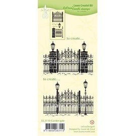 Leane Creatief - Lea'bilities Transparent stamps: Garden Gate