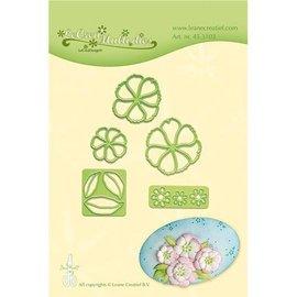 Leane Creatief - Lea'bilities Stanzschablonen: Blüten mit Blätter