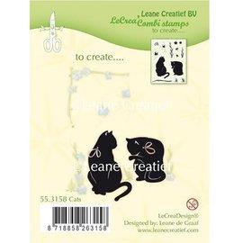 Leane Creatief - Lea'bilities sello transparente: Gato
