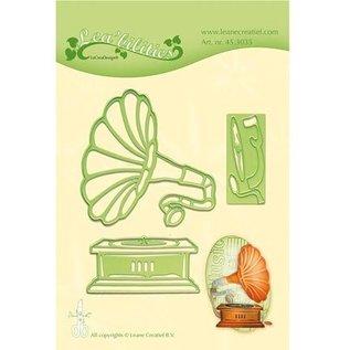 Leane Creatief - Lea'bilities Stanzschablonen: Vintage Gramophone