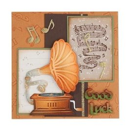Leane Creatief - Lea'bilities Stanzschablonen:Vintage Gramophone