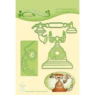 Leane Creatief - Lea'bilities Stanzschablonen: Vintage Telefon