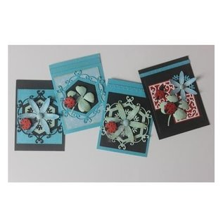 Joy!Crafts / Hobby Solutions Dies Stamping pochoir + tampon SET: Ladybug & Shamrocks