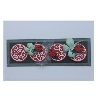 Joy!Crafts / Jeanine´s Art, Hobby Solutions Dies /  Stamping pochoir + tampon SET: Ladybug & Shamrocks
