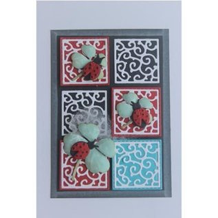Joy!Crafts / Hobby Solutions Dies Stempling stencil + stempel SET: mariehøne & Shamrocks