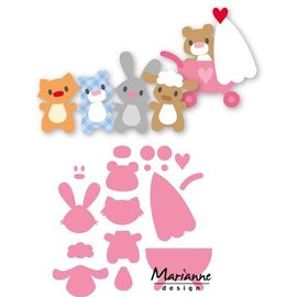 Marianne Design Cutting meurt, bébé animaux de Eline