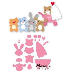 Marianne Design Stanzschablonen, Eline's baby animals