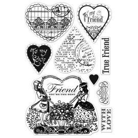 Stempel / Stamp: Transparent Selos transparentes, Friendster Você é o melhor