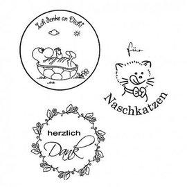Stempel / Stamp: Transparent Stamp Transparent, texte Allemand