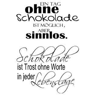 Stempel / Stamp: Transparent Stempel Transparent, Text German