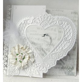 Marianne Design Cutter skabeloner, et filigree hjerte