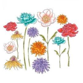 Sizzix Perfurando gabarito, jardim de flores