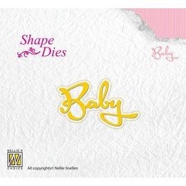 """Nellie Snellen Stanzschablone: Text """"Baby"""""""