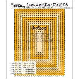 Crealies und CraftEmotions modelo de perfuração: XXL retângulos onduladas