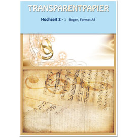 DESIGNER BLÖCKE / DESIGNER PAPER 1 sheet transparent papers, printed, wedding