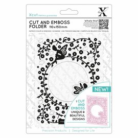 Docrafts / X-Cut Corte e estampagem estêncil, florido Fairies