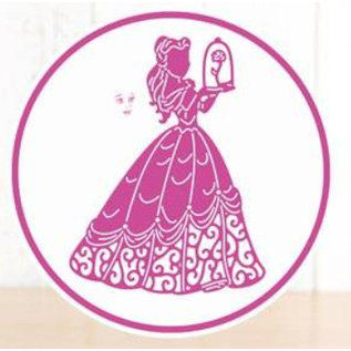 DISNEY Stanzschablonen SET: Disney + Stempel Enchanted Belle Gesicht