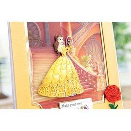 DISNEY Stanzschablonen SET: Disney + Stempel Enchanted Belle Gesicht