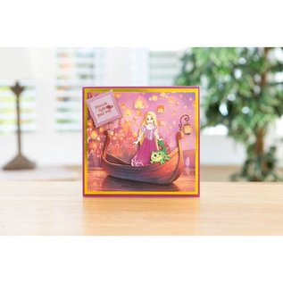 DISNEY Cutting dies SET: Disney + Stamp Dreamy Rapunzel Facial