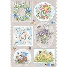 Marianne Design A4 Bilderbogen: Bloemen van het land