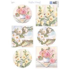 Marianne Design A4 Bilderbogen: Roses Mattie
