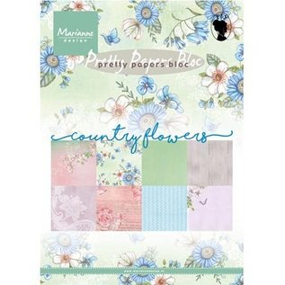 Marianne Design A5 Designersblock: Country Flowers