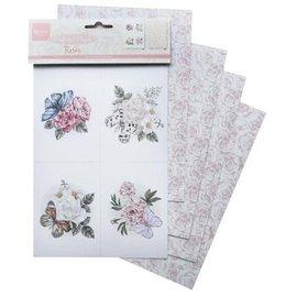 Marianne Design 4 folhas de A5, papel de rosas perfumado!