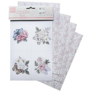 Marianne Design 4x A5, perfumed rose paper!