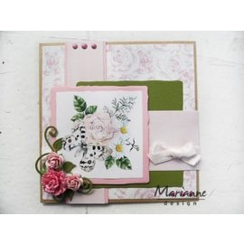 Marianne Design 4 sheets A5, perfumed rose paper!