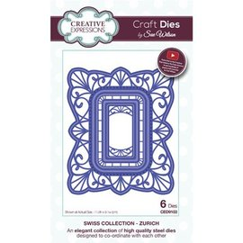 CREATIVE EXPRESSIONS und COUTURE CREATIONS Punching template: decorative frame