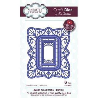 CREATIVE EXPRESSIONS und COUTURE CREATIONS Stansning skabelon: dekorativ ramme