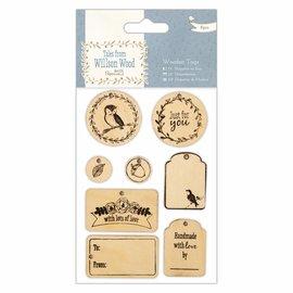 Embellishments / Verzierungen Placas de madeira (8pcs), Tales from Willson Madeira