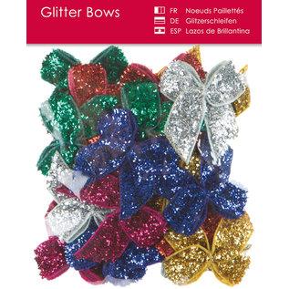 BLUMEN (MINI) UND ACCESOIRES Glitter sløjfer