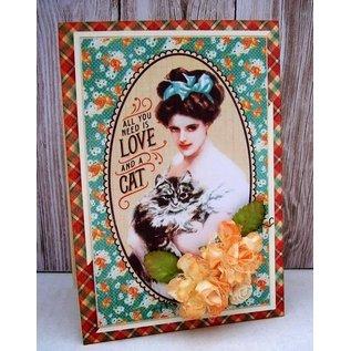 GRAPHIC 45 Raining Cats & Dogs - Journaling & Ephemera Cartes