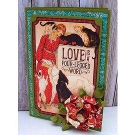 GRAPHIC 45 Raining Cats & Dogs - Journaling e Efemeros Cartões