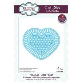 CREATIVE EXPRESSIONS und COUTURE CREATIONS Punching template: lace heart