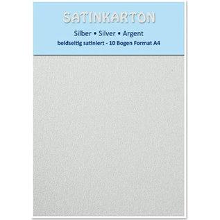 DESIGNER BLÖCKE / DESIGNER PAPER 10 ark, pap Metallic Set A4, sølv