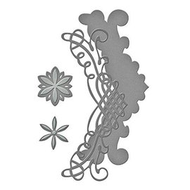 Spellbinders und Rayher Cutting dies: filigree border + Flowers