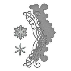 Spellbinders und Rayher Troqueles de corte: Frontera de filigrana + Flores