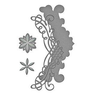 Spellbinders und Rayher Skæring dør: filigran grænsen + Flowers