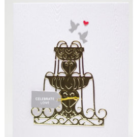 Spellbinders und Rayher Spellbinders, estampage et gaufrage pochoir, la fontaine d'eau stencil métallique de