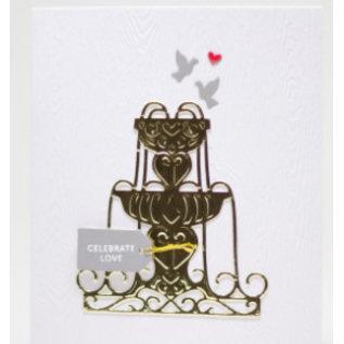 Spellbinders und Rayher Punching template: enyoj water fountain