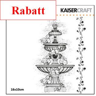 Kaisercraft und K&Company Transparent Stempel, Wasserbrunnen