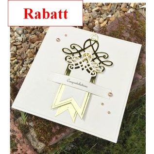 Spellbinders und Rayher Stanz- und Prägeschablone: Shapeabilities, Swallowtail Tags