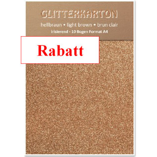 DESIGNER BLÖCKE / DESIGNER PAPER Glitterkarton,10 Bogen 280g/qm, Format A4, hellbraun