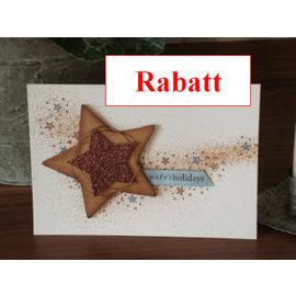DESIGNER BLÖCKE / DESIGNER PAPER Glitter karton, 10 ark 280g / m², A4, lys brun